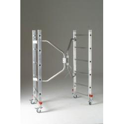 Andamio aluminio base 60x140 cm. Desplegado.