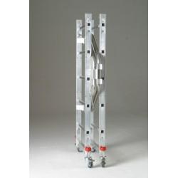 Andamio aluminio base 60x140 cm. Detalle plegado.