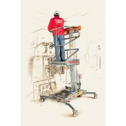 Plataforma Elevadora Manual Super Ligera de 5 metros Diagrama