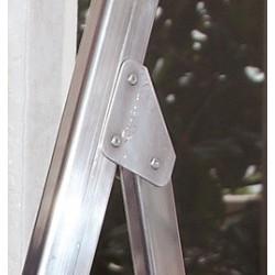 Escalera aluminio tijera barata. vista detalle Faraone
